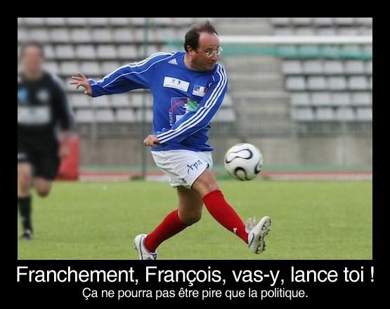 françois hollande fait du foot