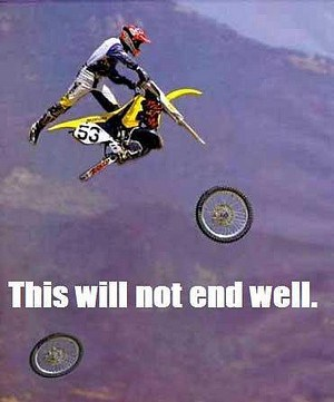 this will not end well bike