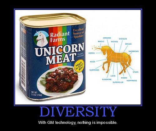 ogm diversity unicorn meat
