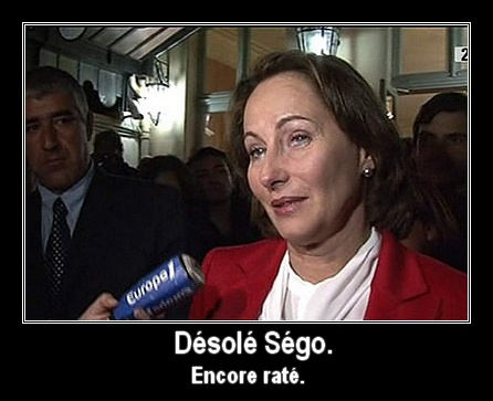 Désolé Ségo. Encore raté.