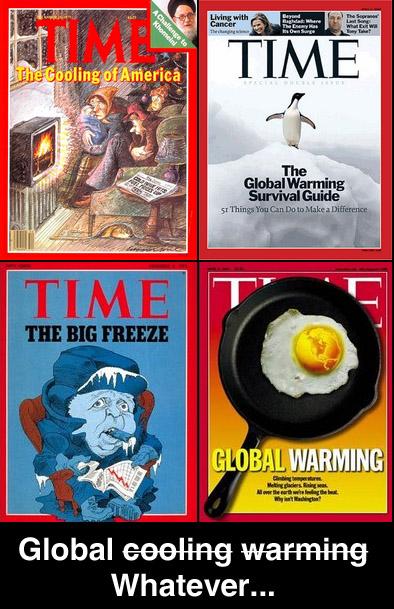 Time : freezing or warming ?