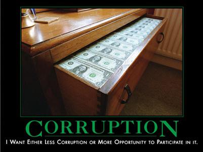 Corruption : j'en veux moins, ou plus d'opportunité pour en profiter