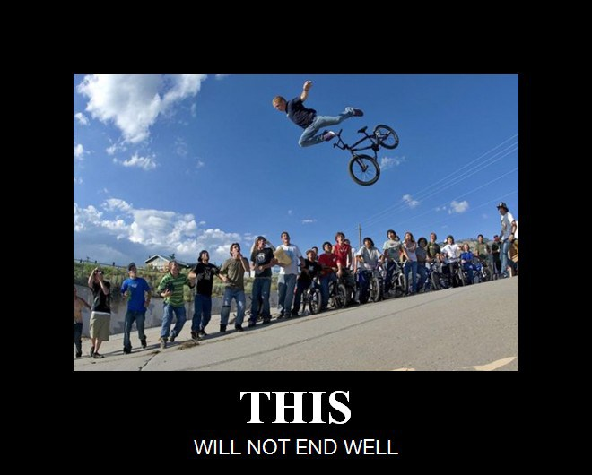 this will not end well - vélo