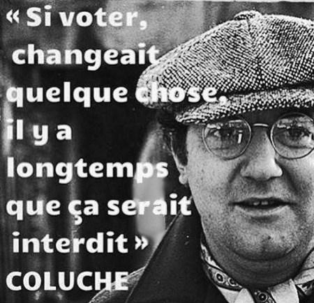 coluche - vote