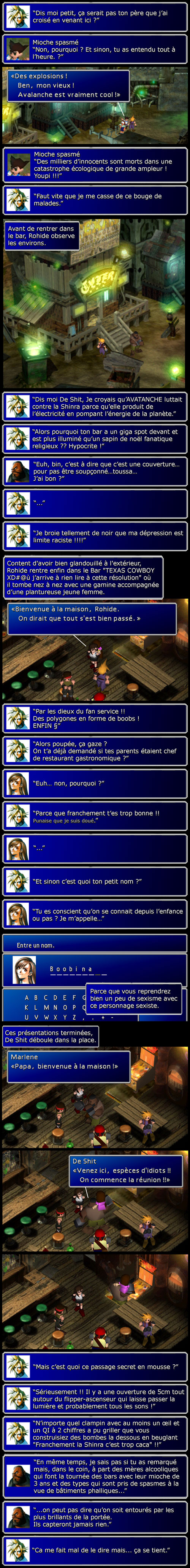Final fantasy 7 : L'hypocrisie d'Avalanche et le passage secret le moins secret du monde