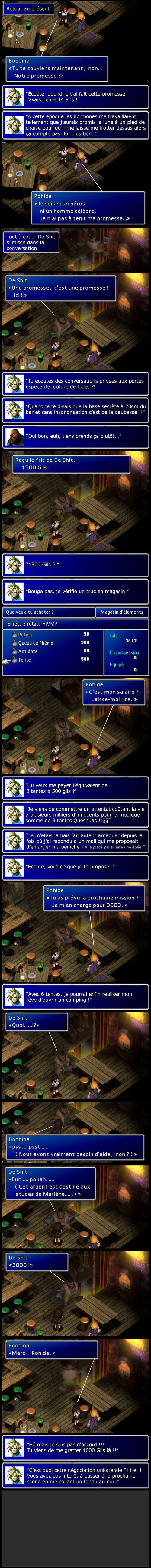 Final fantasy 7 : Négociation pécuniaire entre Cloud et Barret, cette radasse !