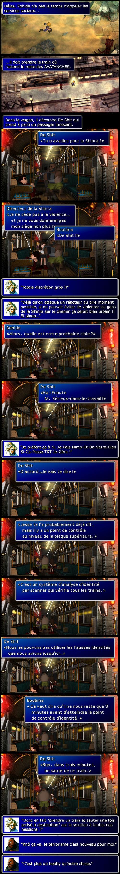 Final fantasy 7 : Dans le train en route vers le réacteur 5